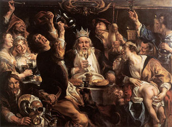 17e-siecle-peinture-Jordaens King Drinks