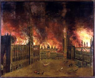 23.habsb-espagne-peinture Bombardement Grd Place