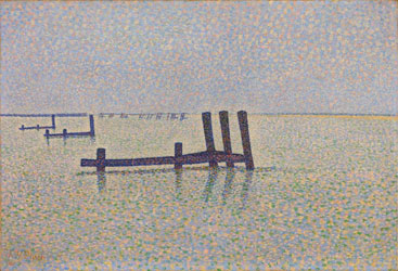 peinture-neoimpression-Alfred-William-Finch---The-Channel-at-Nieuport